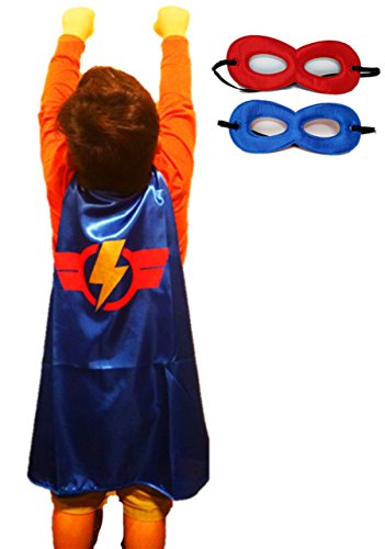 Capes Super Hero (Super Hero Cape & Mask/Accessory Set for Boys - One-Size (3-8 Yrs))