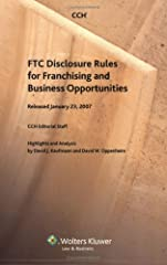 In 2007, after 12 years of rulemaking activity, the Federal Trade Commission issued the first revision to the FTC franchise disclosure rule since it was promulgated in 1979. The Commission amendments to the rule include separating requirements fo...