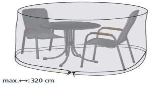Gartenstuhl-Kissen - Funda Protectora para Mesa Redonda y sillas de jardín (320 cm): Amazon.es: Jardín