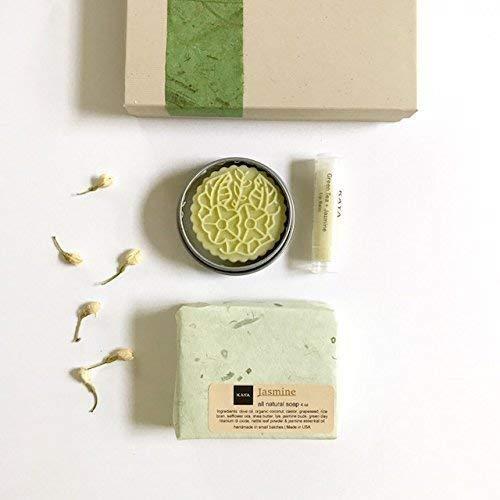 Kaya Green Tea Jasmine Mini Gift Set | 100% Natural Handmade | Bath and Body Gift Set | Bridesmaid gift | Birthday gift | Gift for Her | Thanksgiving gift | Christmas Gift