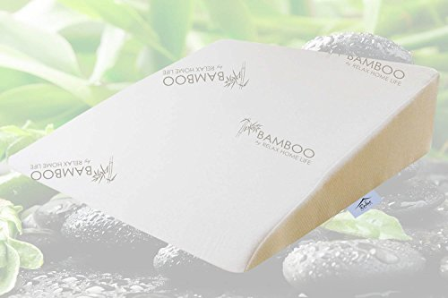 Bamboo By Relax Home Life - Foam Bed Wedge Bamboo Pillow With 1.5