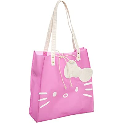 durable service Hello Kitty Girl's Jelly Tote Pink Handbag