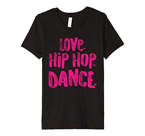 Kids Love Hip Hop Dance Shirt for Dancers, Cute Gift, Pink 8 Black by Hip Hop Dancing Shirts for Dancers