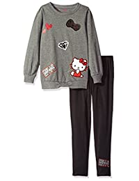 Hello Kitty girls Legging Set With 3d Appliques, Embroidery and Screen Print Details