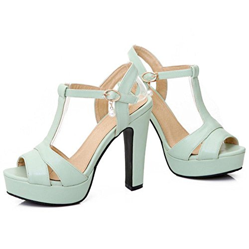 Plateforme Peep Femmes Chaussures Talon Coolcept Vert Sandales Toe Hauts dqRqI5