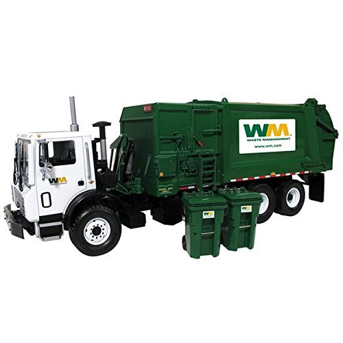 Mack TerraPro Waste Management Garbage Truck with Heil Side Load Refuse with Bin die cast model by First Gear 10-4004
