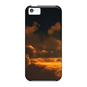 AyoUQAV3232WTKUW Snap On Case Cover Skin For Iphone 5c(golden Cloudscape)