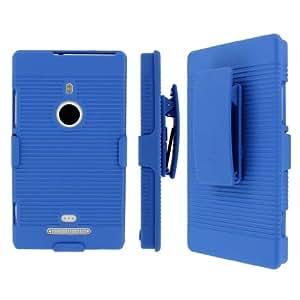 Mpero Collection - Carcasa rígida 3 en 1 para Nokia Lumia 925 (función de atril), color azul