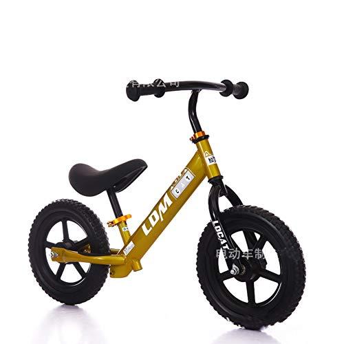 DDCX Andador de niños de 12 Pulgadas sin Pedal Slide Cochecito bebé Equilibrio Coche Bici niño yo Coche Libre...