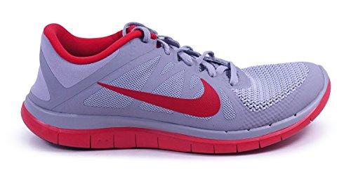 Nike Heren Gratis 4.0 V4 Wolf Grijs Universiteit Rood Sneaker
