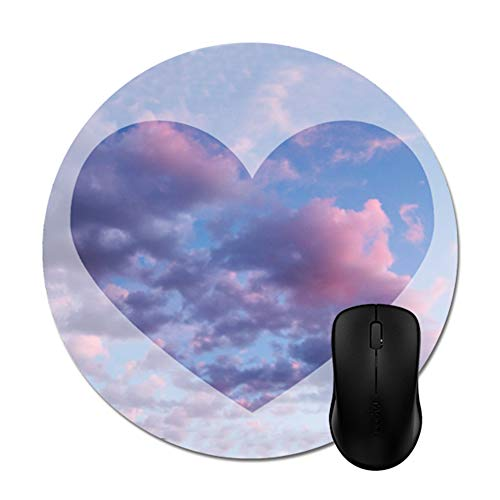 - Cotton Candy Sunset Heart Border Mouse Pad 8