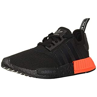 adidas Originals mens Nmd_r1 Running Shoe, Black/Black/Solar Red, 8.5 US