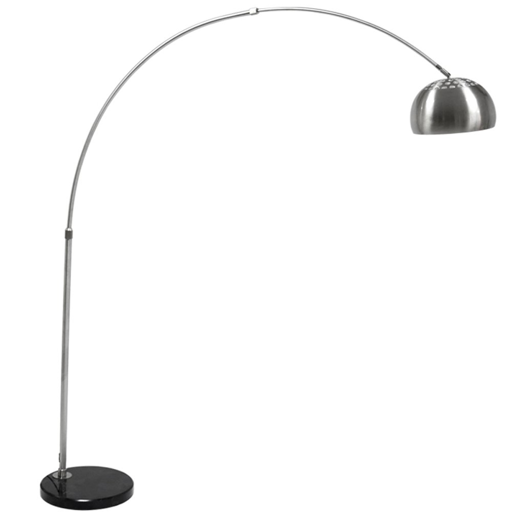 Adjustable LED Iron Floor Lamp Arc Floor Lamp Marble Base Floor Lamp Stainless Steel Floor Lamp Living Room Sofa Restaurant Floor Lamp
