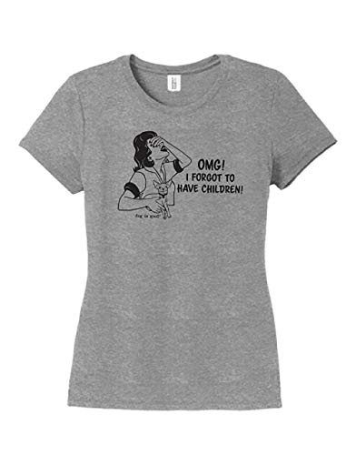 Dog is Good Women's OMG! I Forgot to Have Children Short Sleeve T-Shirt Grey