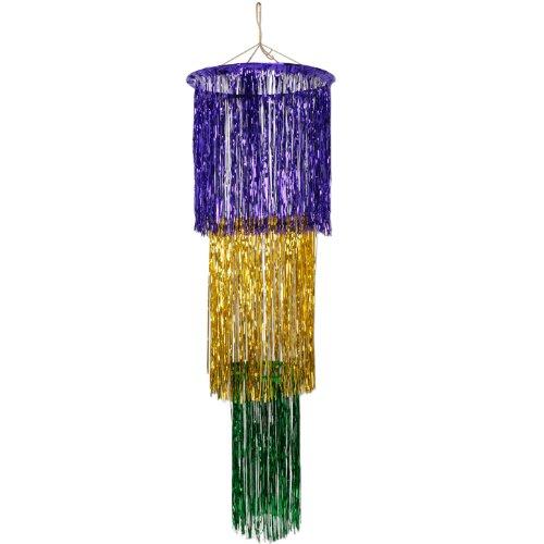 3 Tier Shimmering Chandelier purple Accessory