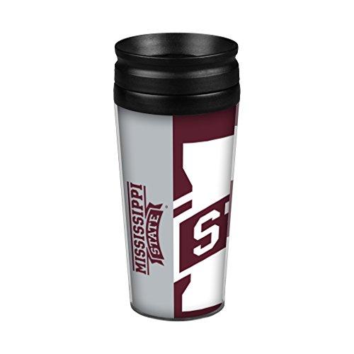 Boelter Brands NCAA Mississippi State Bulldogs Hype Full Wrap Travel Tumbler, 14-Ounce