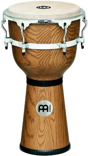 Meinl Percussion DJ3ZFA-M 12-Inch Floatune Series Wood Djembe, Zebra Finished Ash by Meinl Percussion
