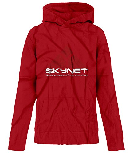 Price comparison product image BSW Youth Girls SkyNet Cyberdyne Systems Neural Net Based AI Hoodie LRG Red