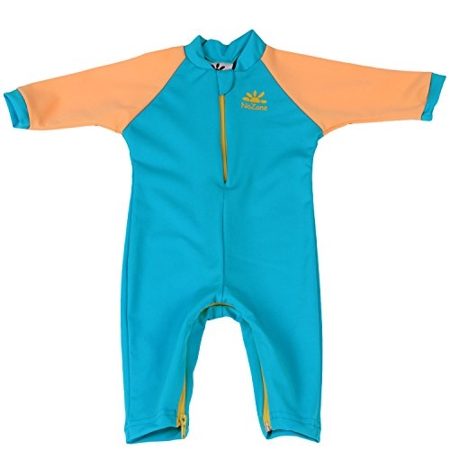 Nozone Fiji Sun Protective Baby Swimsuit in Aqua/Buttercup, 12-18 Months by Nozone