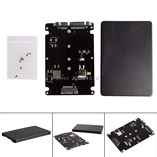 Price comparison product image PrinceShop - B+M Key Socket 2 M.2 NGFF (SATA) SSD to 2.5 SATA Adapter Card with Case Z17