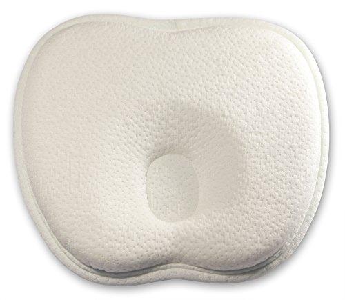 Baby-Kissen für eine natürlich schöne Kopfform - HealthHero memory foam Baby-Kopfkissen aus hochwertigem Bambusstoff zur Vorbeugung eines Plattkopf / Verformung des Hinterkopfes