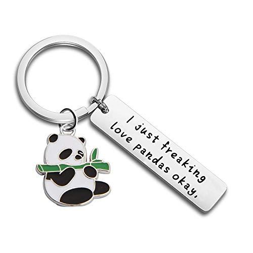 FUTOP I Just Freaking Love Pandas Okay Keychain Funny Panda Gift for Friends, Animal Lovers (Panda Keychain)]()