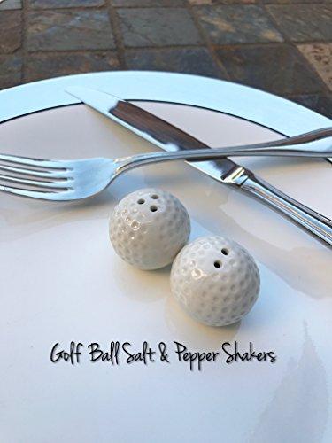 GOLF GIFT -Golf Ball Salt & Pepper Shakers (Set of 2 Shakers)