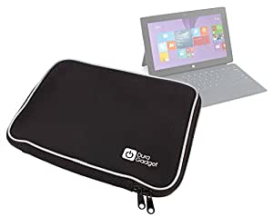 DURAGADGET Black Water Resistant Neoprene Case For Microsoft Surface RT, Surface Pro & Microsoft Surface 2