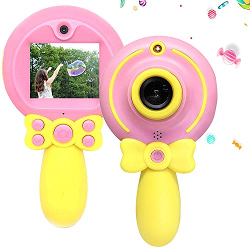 denicer Magic Wand Children's Camera with HD 2 Inch Color Screen Video 1080P and Photo 720P Resolution, Cute Portable Kids Camera for 3-9 Girls Birthday Gift(Not Included - Screen 2 Inch Color