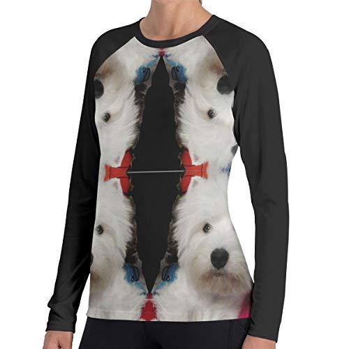(Tuooluo Model Westie Women's Casual Long Sleeve T-Shirts Sweatshirt Tops Blouse)