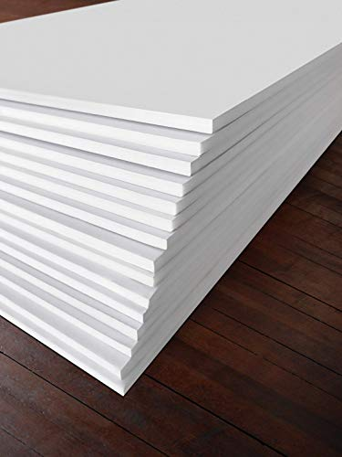 Foam Core Sheets - Excelsis Design, Pack of 15, Foam Boards (Acid-Free), 20x30 Inches (Many Sizes Available), 3/16 Inch Thick Mat, White with White Core (Foam Core Backing Boards, Double-Sided Sheets)