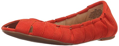 Munchkin Nine Ballet Flat Suede EU B West M M Suede Red UK 7 B Women's 39 wrIIEB
