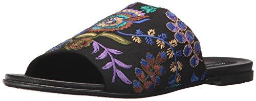STEVEN by Steve Madden Women's Cushion Flat Sandal, Black/Multi, 11 M US