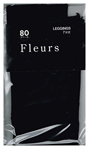 爆発物研磨消費する(フルール) fleurs 80デニール ゾッキ タイプ 7分丈 レギンス M-L ブラック