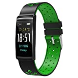 025 KTYX New Smart Bracelet R11 Color Screen Heart Rate Blood Pressure Monitoring Large Screen Bluetooth Waterproof Outdoor Sports Bracelet Smart Watch (Color : Green)