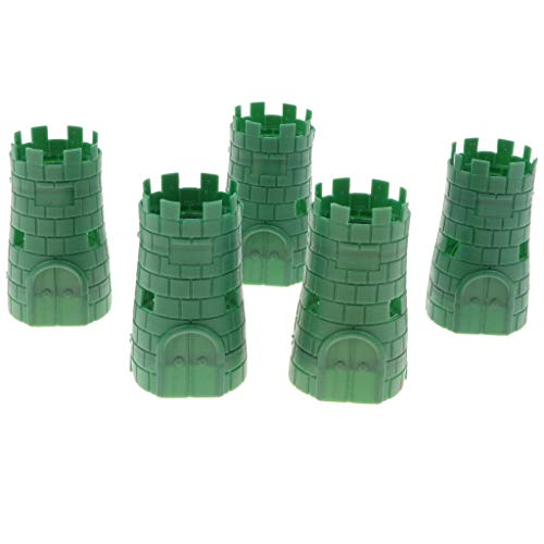 5pcs Army Base Model Plastic Toy Soldiers Army Men Accessories- Blockhouse