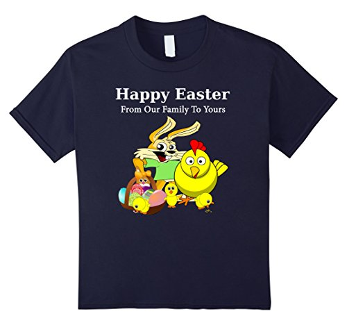 [Kids Happy Easter From Our Family To Yours Group family Photo Tee 6 Navy] (Social Media Sites Costumes)