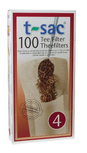 Bag Number - T-Sac Tea Filter Bags, Disposable Tea Infuser, Number 4-Size, 6 to 12-Cup Capacity, Set of 200