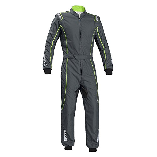 Sparco Groove KS-3 Kart Racing Suit 002334 (Size: Large, Grey/Green) -