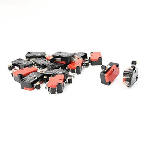 (ULTNICE V-155-1C25 Micro Limit Switch Long Hinge Roller Arm SPDT - 10pcs)