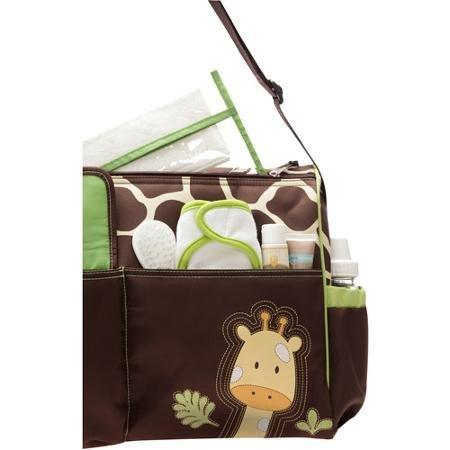 Baby Boom - ( Giraffe ) Diaper Tote Bag, Side bottle pockets