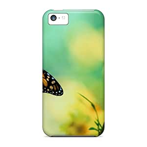 ZbbGF8517yxkfP Tpu Case Skin Protector For Iphone 5c Brown Butterfly With Nice Appearance
