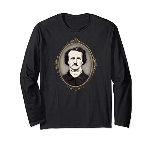 Edgar Allan Poe Gifts Victorian Gothic Frame Edgar Allan Poe Long Sleeve T-Shirt (Did Edgar Allan Poe Have Any Children)