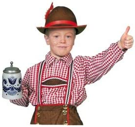 Wilbers Karnaval - Camisa tirolesa para disfraz infantil (tallas ...