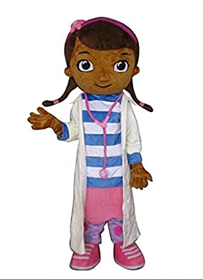 JWUP Doc Mcstuffins Mascot Costume Cartoon Character Costume for Adult
