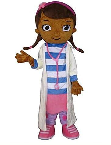 JWUP Doc Mcstuffins Disfraz de mascota Disfraz de personaje de dibujos animados para adulto