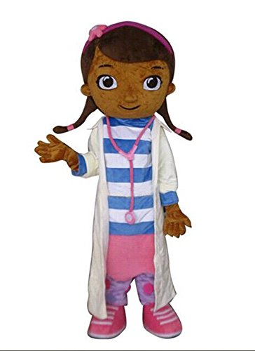 Mickey Mascot Costumes (JWUP Doc Mcstuffins Mascot Costume Cartoon Character Costume for Adult)