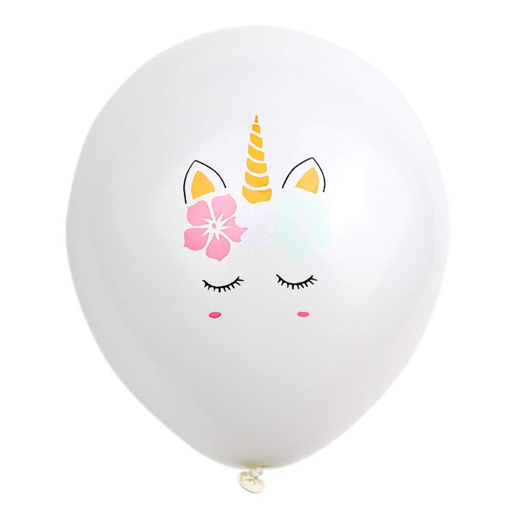 Chirsemey L/átex Unicornio Globos 15 unids 12 Pulgadas Rose Gold Confetti Balloon Unicorn Party Decoration Birthday Party Supplies