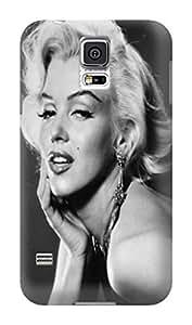 Fashion E-Mall Hard Plastic Cover for Samsung Galaxy S5 Cool Team Logo Stars TPU Marilyn Monroe