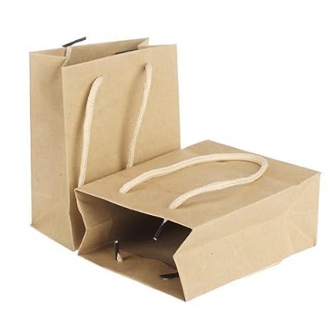 Welim - Bolsas de papel para regalo, 10 unidades, color beige